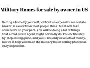Military Homes for sale by owner in US