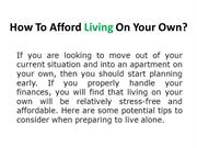 5 Budgeting Tips When You Want To Live Alone
