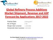 Global Refinery Process Additives Market Shipment, Revenue and ASP For