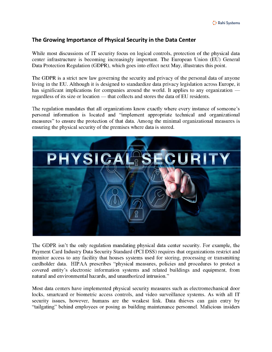 Data Center Security Rahi Systems Authorstream Issues Related Presentations