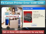 Troubleshoot Canon Printer Error 5100 @448000465291