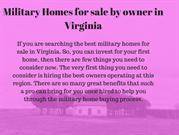 military homes in Virginia