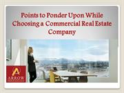 Points to Ponder Upon While Choosing a Commercial Real Estate Company