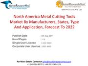 North America Metal Cutting Tools Market By Manufacturers, States, Typ