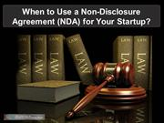 When to Use a Non-Disclosure Agreement (NDA) for Your Startup