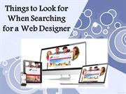 Things to Look for When Searching for a Web Designer