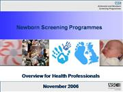Newborn Screening in the UK
