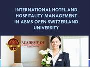 International Hotel and Hospitality Management In ABMS OPEN SWITZERLAN