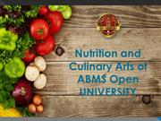Nutrition and Culinary Arts of ABMS Open UNIVERSITY