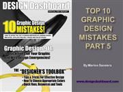 Top 10 Graphic Design Mistakes Part 5