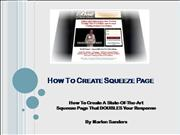 How To Create Squeeze Page