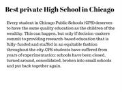 Best private High School in Chicago