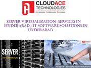 Server Virtualization  Services   IT Software Solutions In  Hyderabad