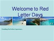 Welcome to Red Letter Days