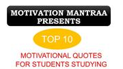 Motivational Quotes For Students Studying | Motivation mantraa