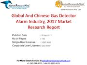 Global And Chinese Gas Detector Alarm Industry, 2017 Market Research R