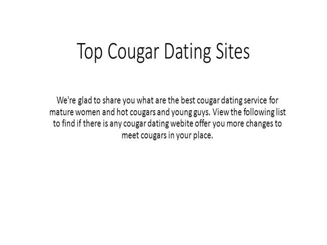 top cougar dating sites