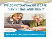Home Care Services In oakland County