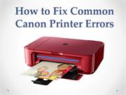 How to Fix Canon Printer Error Codes