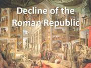 Decline of Roman Republic