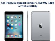 Call iPad Mini Support Number 1-800-942-1460 for Technical Help