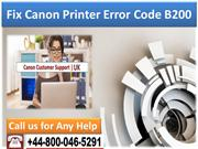 +44-800-046-5291 How to Fix Canon Printer Error code B200