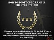 How to boost CSGO rank in Counter Strike?