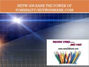 NETW 208 RANK The power of possibility/netw208rank.com