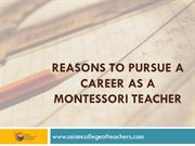 Reasons to Pursue a Career as a Montessori