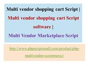 Multi vendor shopping cart software, Multi Vendor Marketplace Script
