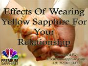 Effects Of Wearing Yellow Sapphire For Your Relationship