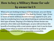 military home for sale