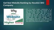 Get Best Website Ranking by Houston SEO Company