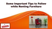 Some Important Tips to Follow while Renting Furniture