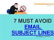 7 MUST AVOID EMAIL SUBJECT LINES