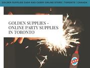 Golden Supplies is The Best Toronto Store to Buy Party Supplies