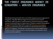 The Finest Insurance Agency in Singapore – Wenjin Insurance