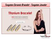 Women's Tungsten Bracelet of Ceramic Bracelet - Tungsten Jeweler