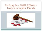 Looking for a Skillful Divorce Lawyer in Naples, Florida