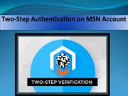 Get Two Step Verification on MSN Account