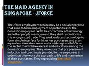 The Maid Agency in Singapore - JForce