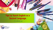 TEFL-Tips to teach English as a Second Language