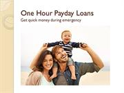 One Hour Payday Loans