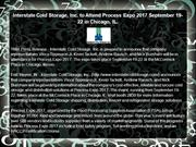 Interstate Cold Storage, Inc. to Attend Process Expo 2017 September