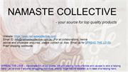Namaste Collective - online store for henna kits, bindis, moroccan bag
