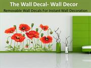 The Wall Decal- Wall Decor