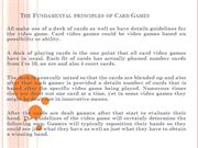 The Fundamental principles of Card Games