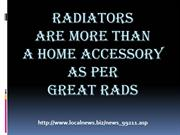 Radiators are more than a home accessory as per Great Rads