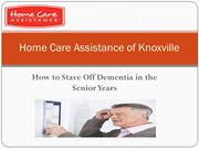 How to Stave Off Dementia in the Senior Years