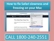 Dial 18002402551 fix Safari slowness and freezing on your MAC